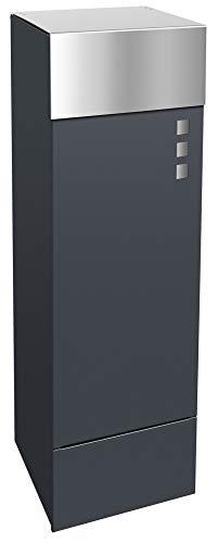 Frabox® Design Paketkasten anthrazitgrau RAL 7016 / Edelstahl - jederzeit bequem Pakete empfangen!
