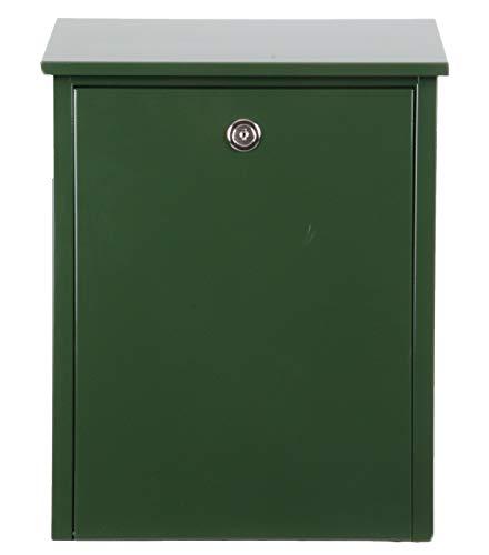 Allux 200 Postfach F54206 Briefkasten | Wasserdichte Abschließbare Sichere Paketkasten | 390 x 280 x 140 mm | Grün