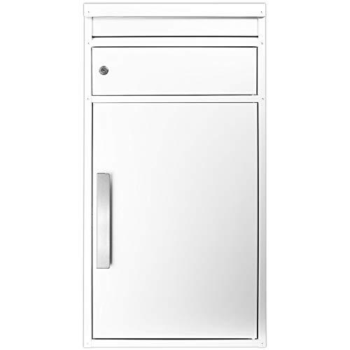 Paketbriefkasten weiß Ral 9010 ScanPro 65M großer Standbriefkasten Paketbox Paketkasten