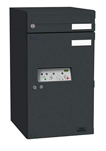 BURG-WÄCHTER Paketbox eBoxx für draußen, für alle gängigen Paketdienste, Witterungsbeständig, verzinkter Stahl, 183,65 l Volumen, EA...