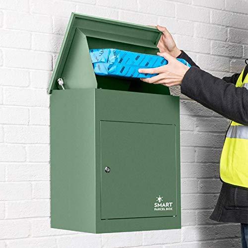 Smart Parcel Box, mittelgroßer Paketbriefkasten mit Paketfach und Briefkasten, sicherer Paketkasten für Zuhause und Unternehmen mit...